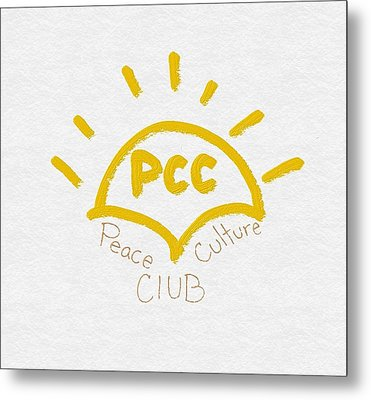 Peace Culture Club Logo Metal Print by Joshua Stepney
