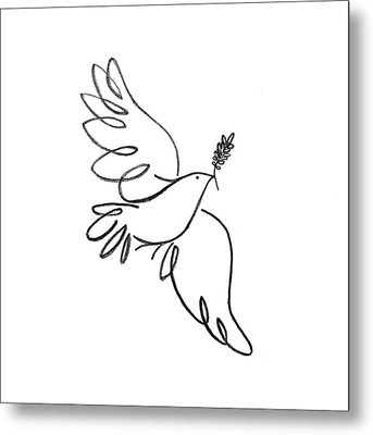 Peace Dove Metal Print by Jenni Robison