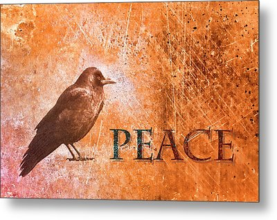 Peace Greeting Card Metal Print by Carol Leigh