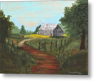Metal Print featuring the painting Peace In The Valley by Sharon Mick