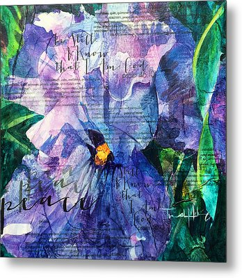 Peace - Iris Metal Print by Trish McKinney