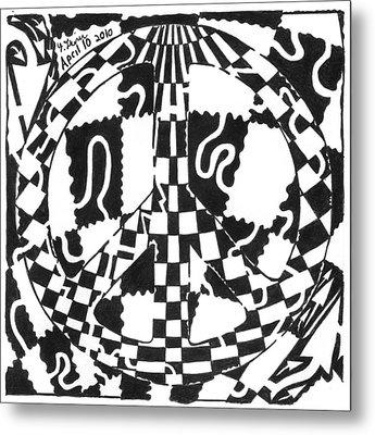 Peace Maze Metal Print by Yonatan Frimer Maze Artist