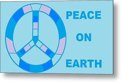 Peace On Earth 3 Metal Print