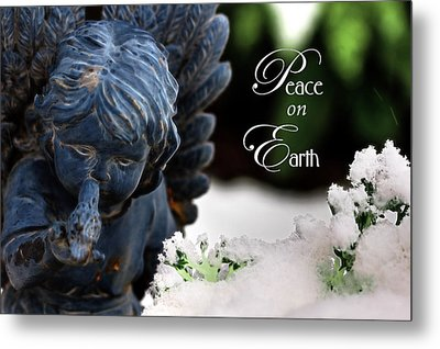 Metal Print featuring the photograph Peace On Earth Angel by Shelley Neff