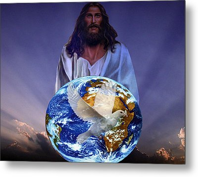 Peace On Earth Metal Print by Evelyn Patrick