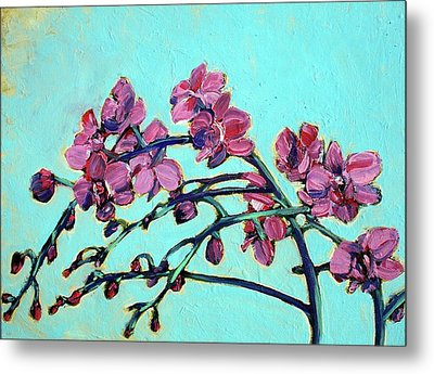 Peace Orchids Metal Print by Sheila Tajima