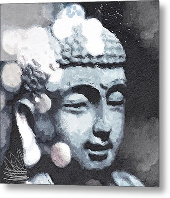 Peaceful Buddha 3- Art By Linda Woods Metal Print