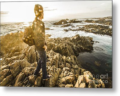 Peaceful Calm Of A Tasmanian Sea Landscape Metal Print