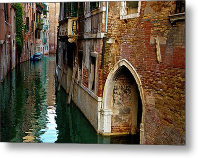 Metal Print featuring the photograph Peaceful Canal by Harry Spitz