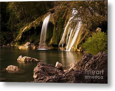 Metal Print featuring the photograph Peaceful Day At Turner Falls by Tamyra Ayles