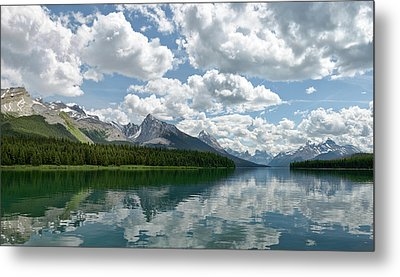 Metal Print featuring the photograph Peaceful Maligne Lake by Sebastien Coursol