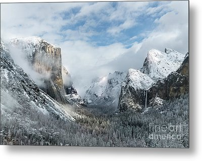 Metal Print featuring the photograph Peaceful Moments - Yosemite Valley by Sandra Bronstein