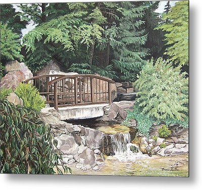 Metal Print featuring the painting Peaceful Place by Bonnie Heather
