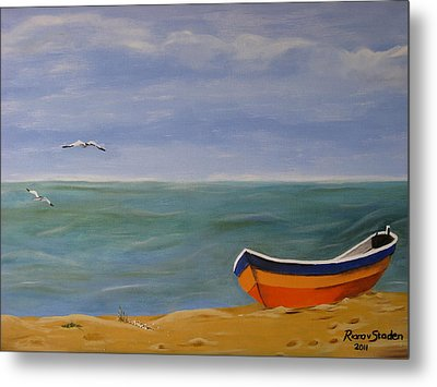 Metal Print featuring the painting Peaceful Place by Riana Van Staden