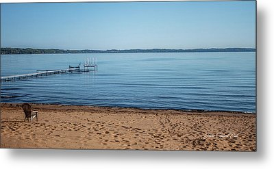 Metal Print featuring the photograph Grand Traverse Bay Beach-michigan  by Joann Copeland-Paul