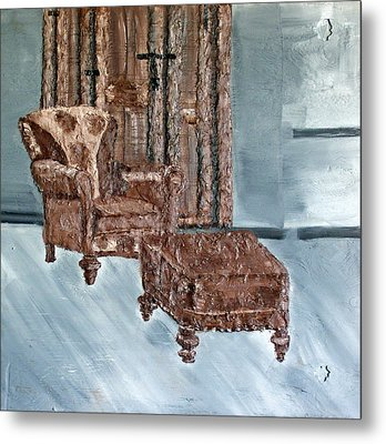Peaceful Seating Metal Print