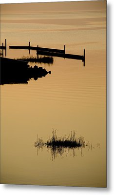 Peaceful Silhouettes Metal Print by Stephen St. John