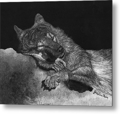 Peaceful Slumber Metal Print by Jessica Kale