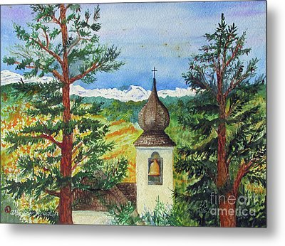 Peaceful Valley Bell Tower Metal Print