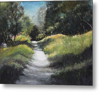Peaceful Walk In The Foothills Metal Print