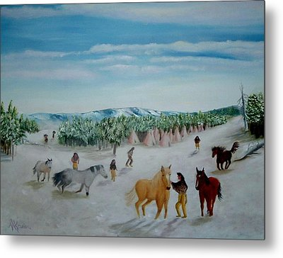 Peaceful Winter Metal Print by Mary Kaser