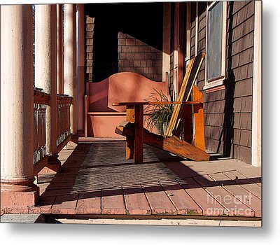 Metal Print featuring the photograph Peach Porch by Betsy Zimmerli