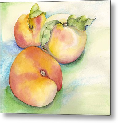 Peach Time Metal Print