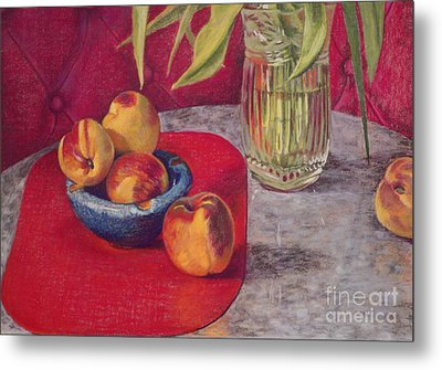 Peaches And Nectarines Metal Print by Kathryn Donatelli