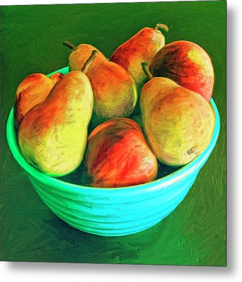 Peaches And Pears Metal Print by Dominic Piperata
