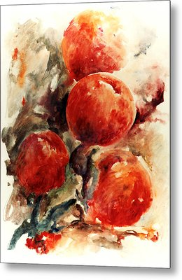 Peaches Metal Print by Rachel Christine Nowicki