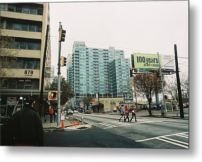 Peachtree And 7th St 2006 Winter Metal Print by Jake Hartz