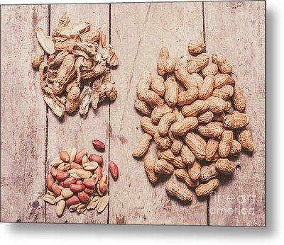 Peanut Shelling Metal Print by Jorgo Photography - Wall Art Gallery