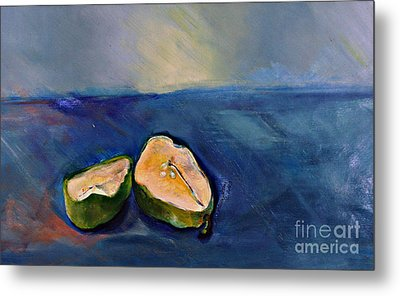 Pear Split Metal Print