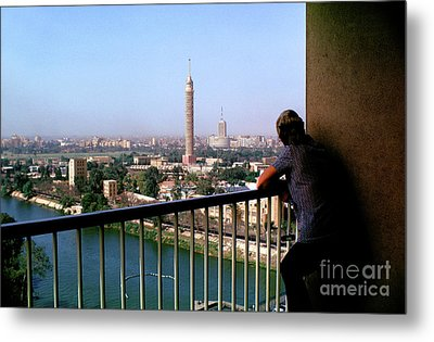 Pearing Into The Cairo Skyline Metal Print by Photovault