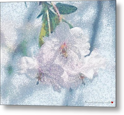 Pearlesque Floral Metal Print by Catherine Lott