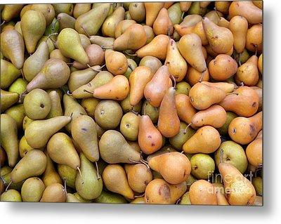 Pears At The Harvest Metal Print