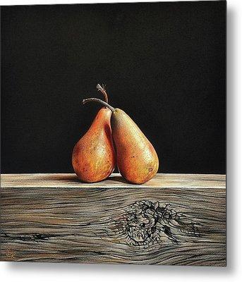 Pears Metal Print by Elena Kolotusha