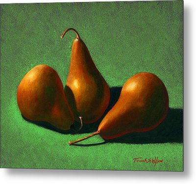 Metal Print featuring the painting Pears by Frank Wilson