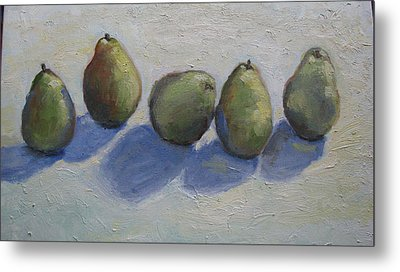 Pears In A Row Metal Print