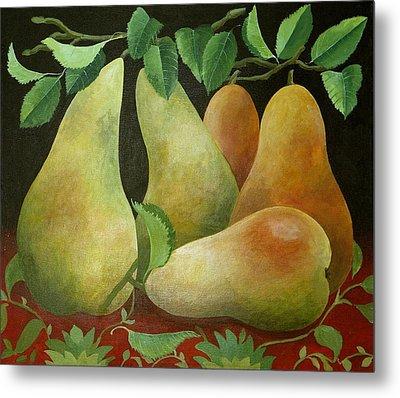 Pears Metal Print by Jennifer Abbot