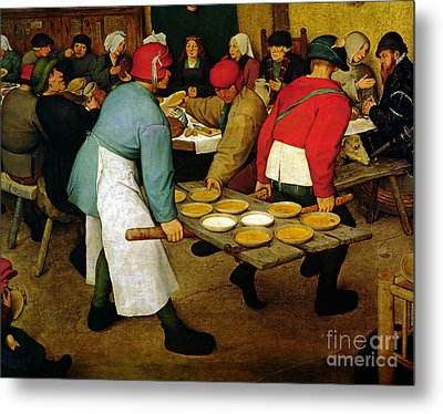 Peasant Wedding Metal Print