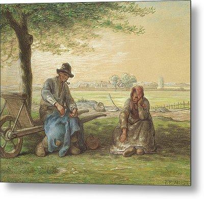 Peasants Resting Metal Print