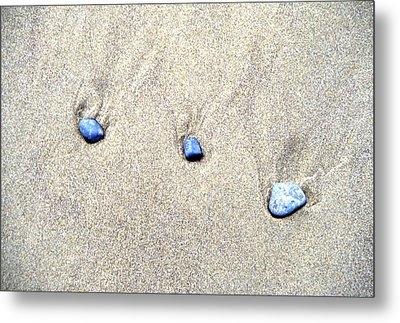 Pebbles In The Sand Metal Print