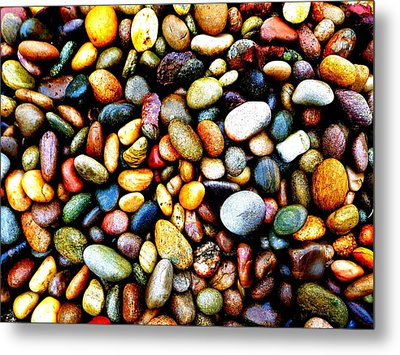 Pebbles On A Beach Metal Print