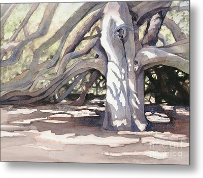 Metal Print featuring the painting Pechanga Great Oak by Bonnie Rinier
