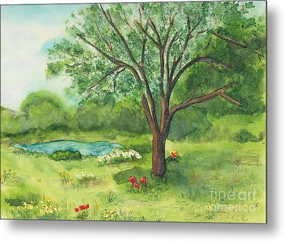 Metal Print featuring the painting Pedro's Tree by Vicki  Housel