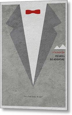Metal Print featuring the digital art Pee-wee's Big Adventure by Ayse Deniz