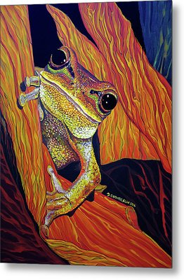 Metal Print featuring the painting Peek A Boo by Debbie Chamberlin
