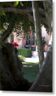 Metal Print featuring the photograph Peeking At The Mansion by John Knapko