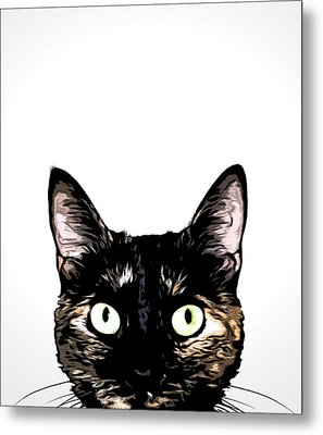 Peeking Cat Metal Print by Nicklas Gustafsson